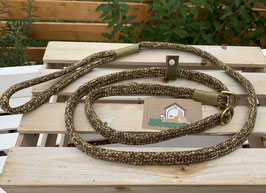 Retrieverleine Rusty Gold 1,45m flach