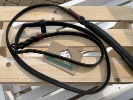 Retrieverleine Leder schwarz schmal  1,45m