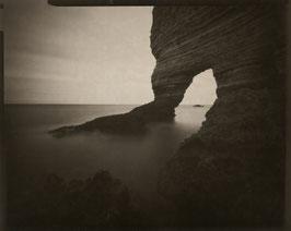 """Monotype, Paisible amont, 2012. Révélation caffenol 4x5""""."""