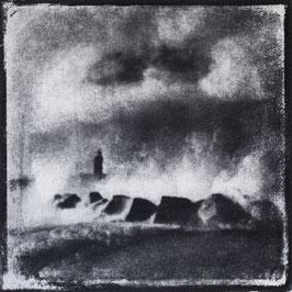 Monotype, A : Allégorie, 2020, tirage au charbon, bichromie