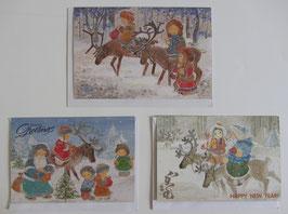 Briefkarte Rentiere