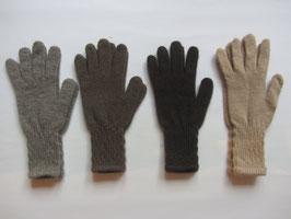 schmale Woll-Fingerhandschuh mit langem Bund