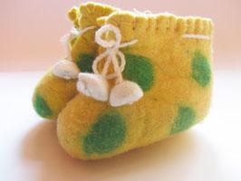 Babyschüchen gelb-grün