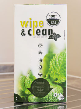 Wipe & Clean 2 Litre Bag in a box / Mint / Dilute in water, 1-10%