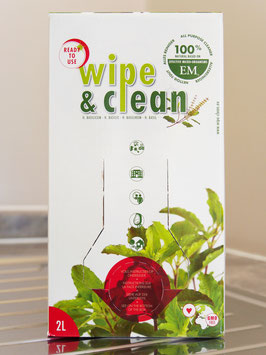 Wipe & Clean 2 Litre Bag in a box / Basil / Ready to use