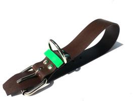 Biothanehalsband braun/grün