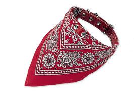 Halsband mit Tuch rot