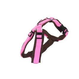 Anny-X Brustgeschirr FUN Sonderfarbe braun/rosa