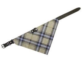 Halsband mit Tuch braun