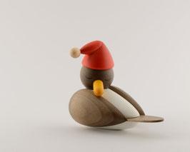 Weihnachts-möwe schlafend