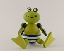 Badefrosch Bert sitzend