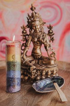 """Altar Kerze """"Seven Chakras"""" oder """"Blume des Lebens"""""""