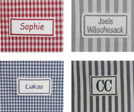 Namensstickerei personalisiert individualisiert für Wäschesack
