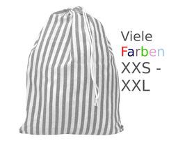 Wäschesack gestreift XXS-XXL Farben zur Auswahl