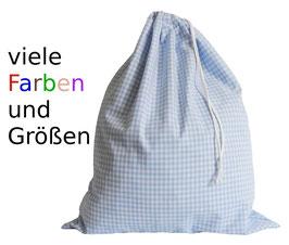 Wäschesack Farben u. Größen zur Auswahl XXS - XXL kariert Vichykaro auf Anfrage personalisiert oder nach Maß