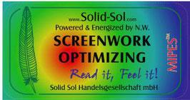 SCREENWORK OPTIMIZING der Button für den Bildschirm