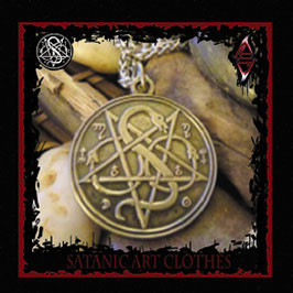 Order of Satan Pentagram Medallion - Ancient