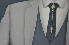 Epingle à lavallière, attache cravate BastienPerla