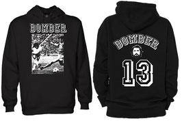 """""""Bomber"""" Spenden Hoodie Schwarz"""