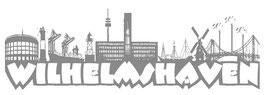 """""""Wilhelmshaven"""" Skyline Autoaufkleber klein"""