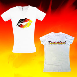 """Deutschland-Kiss"" Lady-Shirt"
