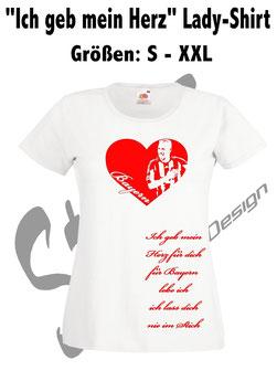"""""""Ich geb mein Herz"""" Damen Shirt"""