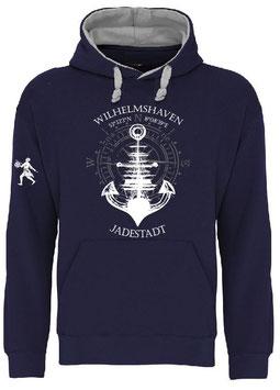 """Wilhelmshaven""-Hoodie Ankerschiff"
