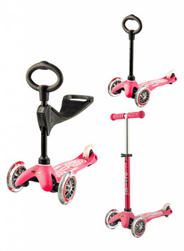 MINI MICRO STEP 3IN1 DELUXE ROZE