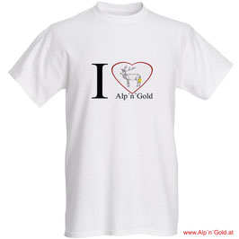 I love ALP´N´GOLD - T-Shirt - Herren