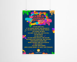 A4 Poster Affirmationen Sujet freaky