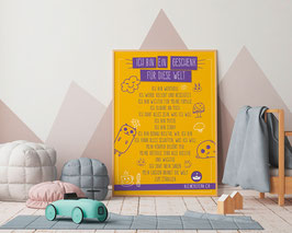 A4 Poster Affirmationen Sujet Icons