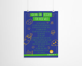 A3 Poster Affirmationen Sujet Icons