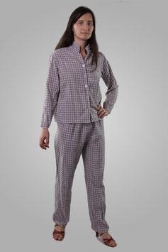 Пижама серая клетчатая