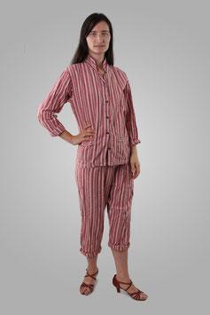 Пижама бордовая