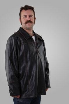 Куртка кожаня темно-коричневая