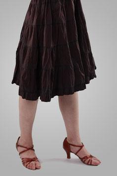 Юбка темно-коричнево-бордовая