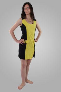 Платье желто-черное