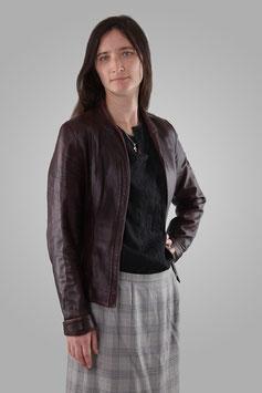 Куртка темно-коричневая кожанная