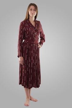 Платье бордово-коричневое
