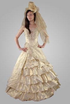 Свадебное платье бежевое