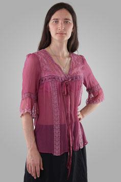 Блузка розовая прозрачная