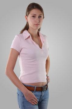 Тениска светло-розовая