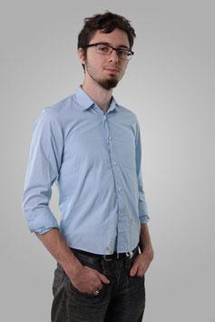 Рубашка светло-голубая