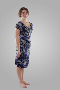 Платье фиолетово-серое