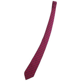 Cravate Hermès en rose fuchsia motif étriers