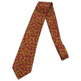 Cravate Hermès motif citrouilles