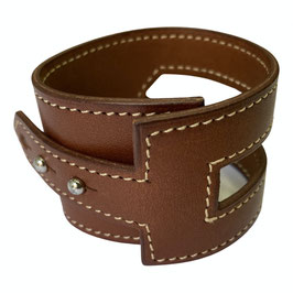 Bracelet Hermès en cuir marron