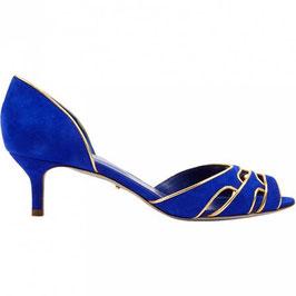 Escarpins Sergio Rossi en cuir bleu royal