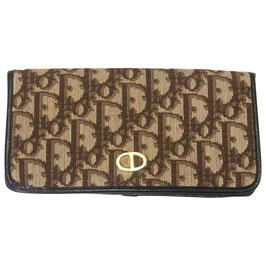 Portefeuille Dior en cuir et toile monogramme