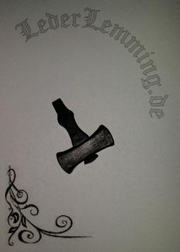 """Thor´s Hammer """"Mjölnir"""" aus Eisen"""